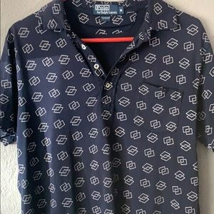 Unique vintage Polo with white pearl buttons
